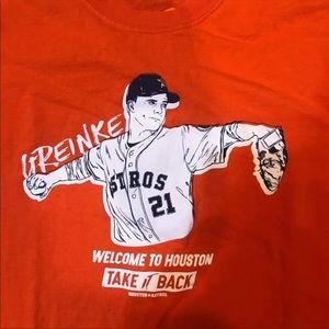 Houston Astros Pitcher Zack Greinke XL shirt
